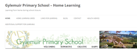 Home learning screenshot